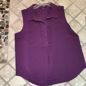 Tommy Hilfiger Professional Ruffled Blouse in Plum
